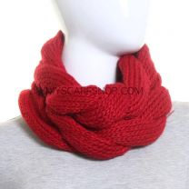 Red Twisted Chunky Snood