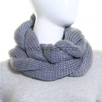 Grey Twisted Chunky Snood