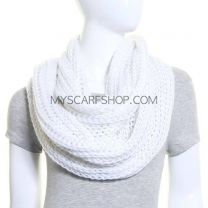 White Chunky Knit Snood