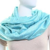 Light Blue Silk Pashmina