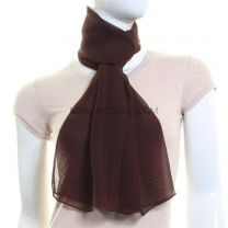 Brown Chiffon Neck Scarf