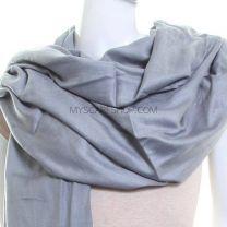 Slate Grey Plain Pashmina