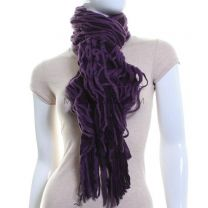 Knitted Web Scarf (Purple)
