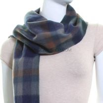 Lambswool Scarf (Navy Check)