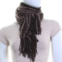 Knitted Web Scarf (Brown)
