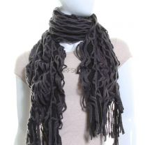 Knitted Web Scarf (Black)