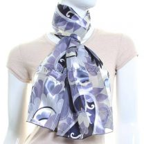 Large Floral Print Scarf (Blue)