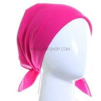 Fuchsia Plain Cotton Bandana