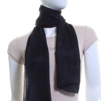 Midnight Blue Silk Neck Scarf