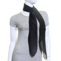 Black Large Square Silk Scarf