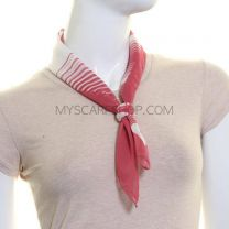 Pink Stripe Square Neckerchief