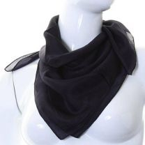 Black Square Silk Scarf