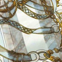 Sky Blue Nautical Chains Satin Stripe Scarf