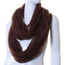 Brown Loose Knit Soft Snood