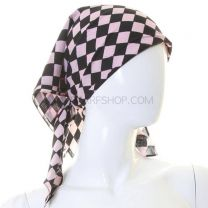 Pink Checkered Cotton Bandana