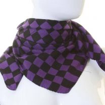 Purple Checkered Cotton Bandana