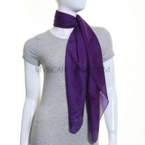 Purple Large Square Silk Scarf