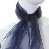 Navy Sheer Square Scarf