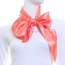 Peach Satin Sash Scarf