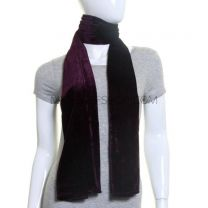 Purple Plain Velvet Scarf