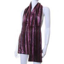 Antique Pink Stripe Reversible Velvet Scarf