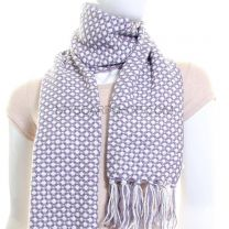 Knitted Check Scarf (Grey)