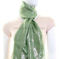 Green Lurex Pashmina Scarf