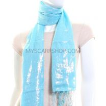 Baby Blue Lurex Shawl