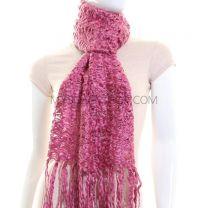 Dusky Pink Tight Knit Scarf
