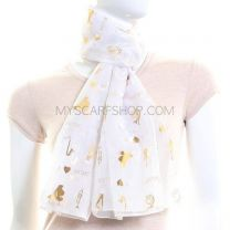 White Chiffon Scarf (Musical Instruments)