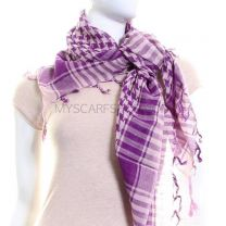 Pink & Purple Arab Scarf (Shemagh)