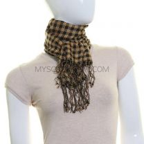 Check Neck Scarf