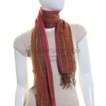 Brown Stripe Hand Loom Pashmina
