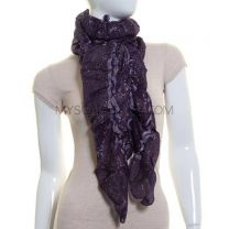 Purple Bobbles Lurex Scarf