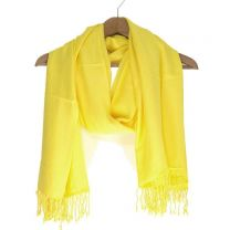 Yellow Plain Pashmina
