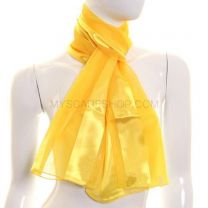 Yellow Satin Stripe Scarf