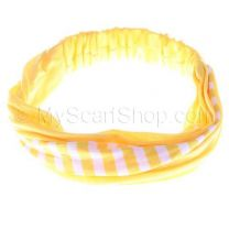 Yellow Stripes Cotton Headwrap